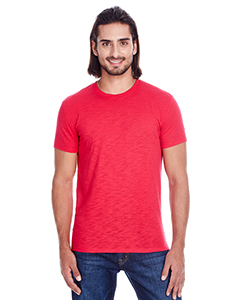 Red Slub Men's Slub Jersey Short-Sleeve Tee