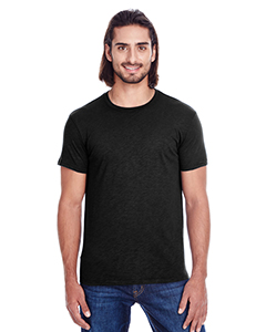 Black Slub Men's Slub Jersey Short-Sleeve Tee