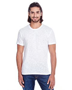 White Slub Men's Slub Jersey Short-Sleeve Tee
