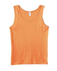 Orange Women's Baby Rib Tank