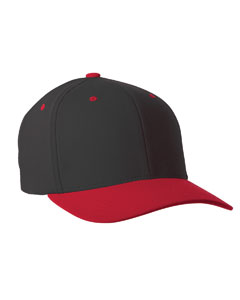 Black/red 110 Performance Serge Two-Tone Cap