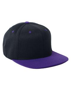 Black/purple 110 Wool Blend Two-Tone Cap