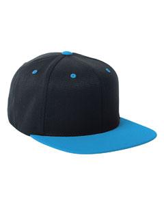 Black/teal 110 Wool Blend Two-Tone Cap