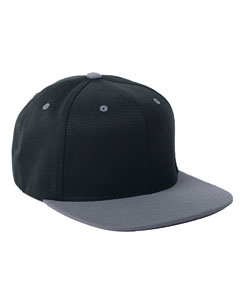 Black/grey 110 Wool Blend Two-Tone Cap