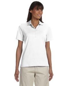White Women's High Twist Cotton Tech Polo