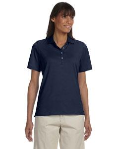 Navy Women's High Twist Cotton Tech Polo
