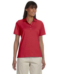 Carmine Red Women's High Twist Cotton Tech Polo