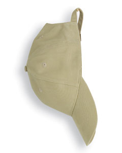 Khaki Solid Brushed Twill Cap