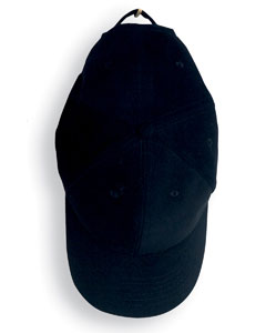 Black Solid Brushed Twill Cap