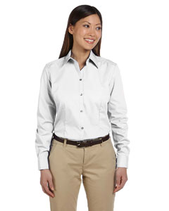 White Women's Solid Silky Poplin
