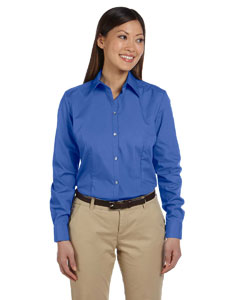 Royal Blue Women's Solid Silky Poplin