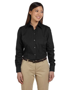 Black Women's Solid Silky Poplin