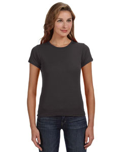 Smoke Women's Combed Ringspun 1x1 Rib Scoop Neck T-Shirt