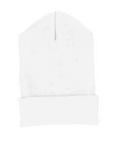 White Cuffed Knit Cap