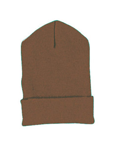 Brown Cuffed Knit Cap