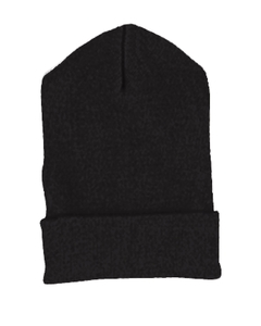Black Cuffed Knit Cap