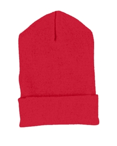 Red Cuffed Knit Cap