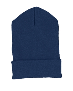 Navy Cuffed Knit Cap
