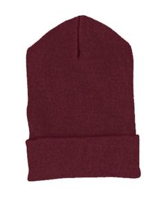 Maroon Cuffed Knit Cap