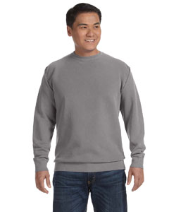 Grey 9.5 oz. Garment-Dyed Fleece Crew