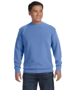 Flo Blue 9.5 oz. Garment-Dyed Fleece Crew
