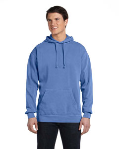 Flo Blue 9.5 oz. Garment-Dyed Pullover Hood