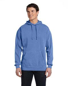 Flo Blue 9.5 oz. Garment-Dyed Pullover Hood