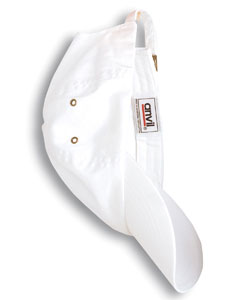 White Solid Low-Profile Twill Cap
