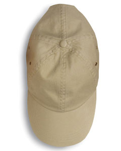 Khaki Solid Low-Profile Twill Cap