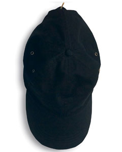 Black Solid Low-Profile Twill Cap