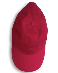 Red Solid Low-Profile Twill Cap