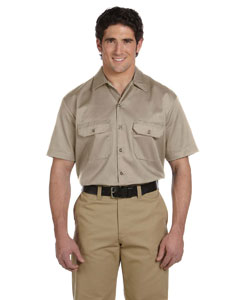 Khaki Men's 5.25 oz. Short-Sleeve Work Shirt