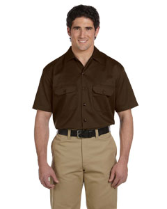 Dark Brown Men's 5.25 oz. Short-Sleeve Work Shirt