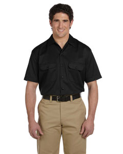 Black Men's 5.25 oz. Short-Sleeve Work Shirt