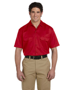 Red Men's 5.25 oz. Short-Sleeve Work Shirt