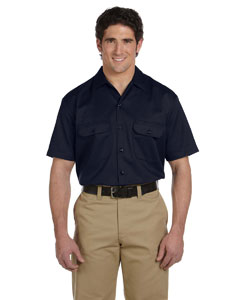 Dark Navy Men's 5.25 oz. Short-Sleeve Work Shirt