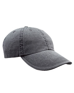 Coal Solid Low-Profile Sandwich Trim Pigment-Dyed Twill Cap