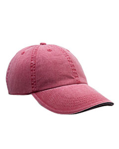 Red Rock Solid Low-Profile Sandwich Trim Pigment-Dyed Twill Cap