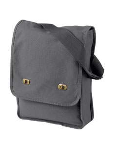 Smoke 14 oz. Pigment-Dyed Canvas Field Bag