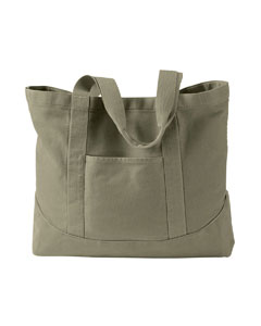 Khaki Green 14 oz. Pigment-Dyed Large Canvas Tote