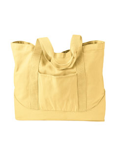 Goldenrod 14 oz. Pigment-Dyed Large Canvas Tote