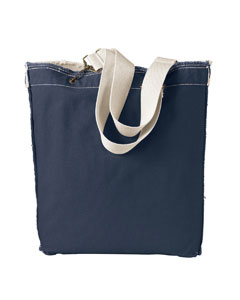 Deep Navy 14 oz. Direct-Dyed Raw-Edge Tote