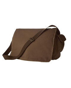 Java 14 oz. Pigment-Dyed Raw-Edge Messenger Bag