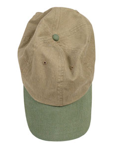 Khaki/willow Pigment-Dyed Baseball Cap