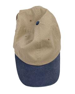Khaki/navy Pigment-Dyed Baseball Cap