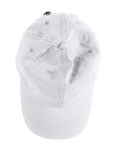 White Direct-Dyed Twill Cap