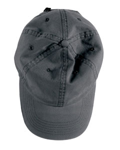 Black Direct-Dyed Twill Cap