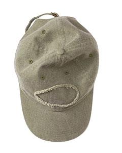 Khaki Pigment-Dyed Raw-Edge Patch Baseball Cap