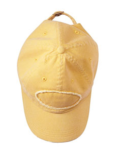 Mustard Pigment-Dyed Raw-Edge Patch Baseball Cap