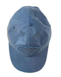 Denim Pigment-Dyed Raw-Edge Patch Baseball Cap